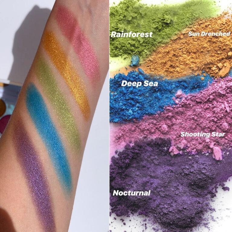 elcie Cosmetics The Minimalist Eyeshadow Palette Special Edition Arm & Crash Swatches