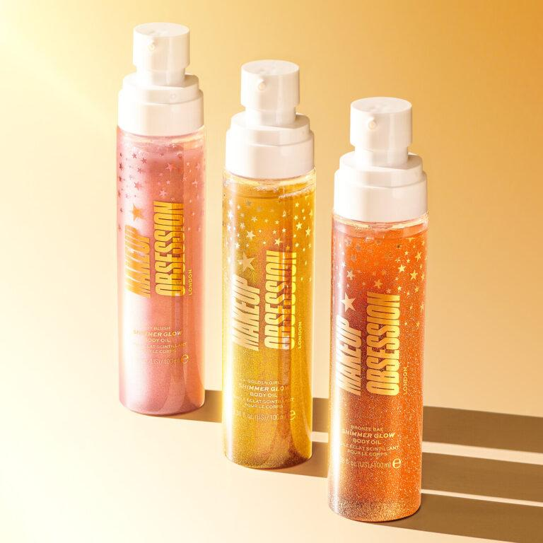 Makeup Obsession Shimmer Glow Body Oil Promo
