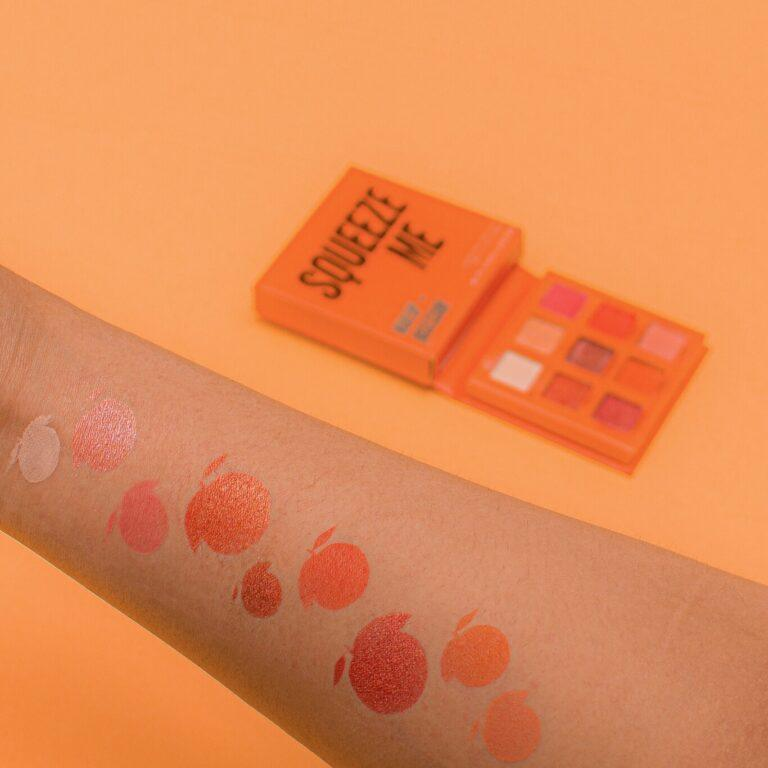 Makeup Obsession Squeeze Me Eyeshadow Palette Arm Swatches