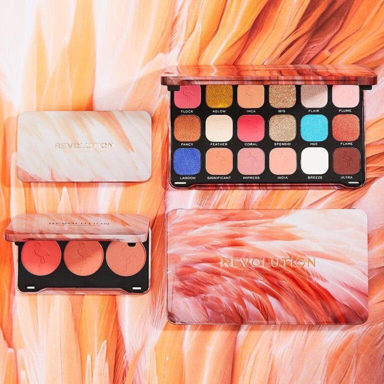 Revolution Flamboyance Flamingo Eyeshadow Palette & Flamingo Blush Palette Promo Post Cover
