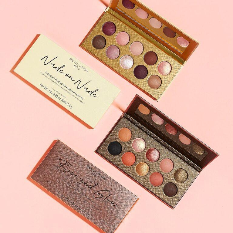 Revolution Pro Colour Focus Nude on Nude & Bronzed Glow Eyeshadow Palettes Promo Post Cover