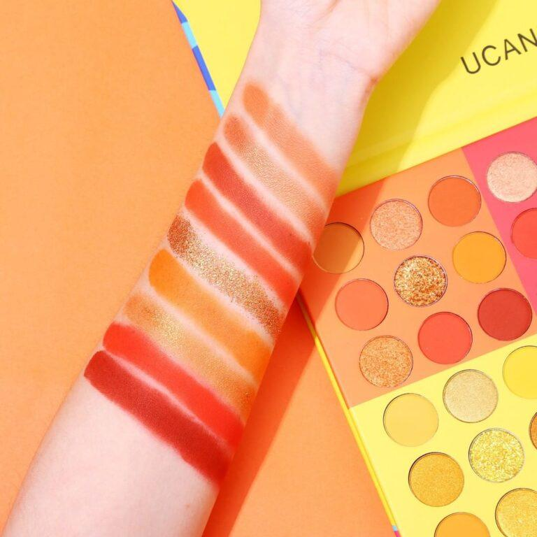UCANBE 6 in 1 Splashy Candies 54 Colors Eye Shadow Palette Arm Swatches 1