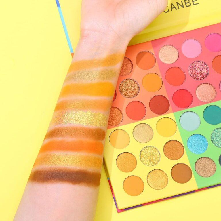 UCANBE 6 in 1 Splashy Candies 54 Colors Eye Shadow Palette Arm Swatches 2