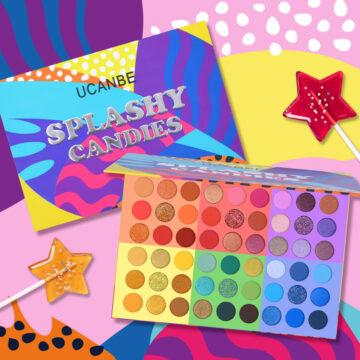 UCANBE 6 in 1 Splashy Candies 54 Colors Eye Shadow Palette Open & Closed Promo