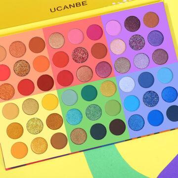 UCANBE 6 in 1 Splashy Candies 54 Colors Eye Shadow Palette Open Closer