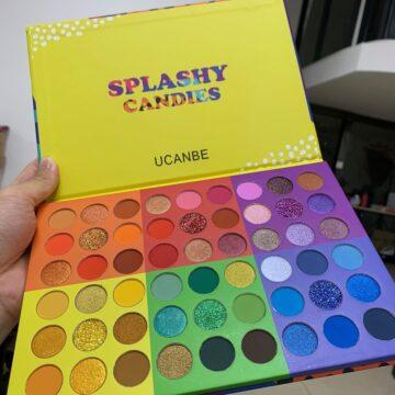 UCANBE 6 in 1 Splashy Candies 54 Colors Eye Shadow Palette Open Natural Light