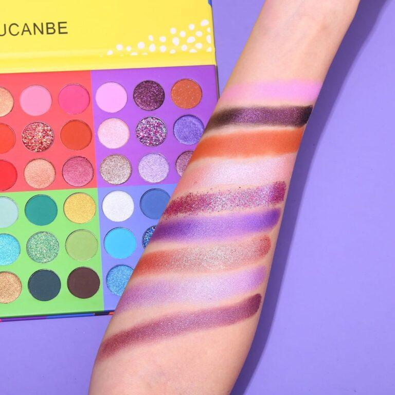UCANBE 6 in 1 Splashy Candies 54 Colors Eye Shadow Palette Srm Swatches 4