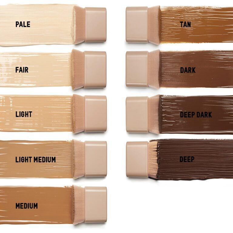 Deluxe Travel Size Skin Perfecting Body Foundation Brush Swatches