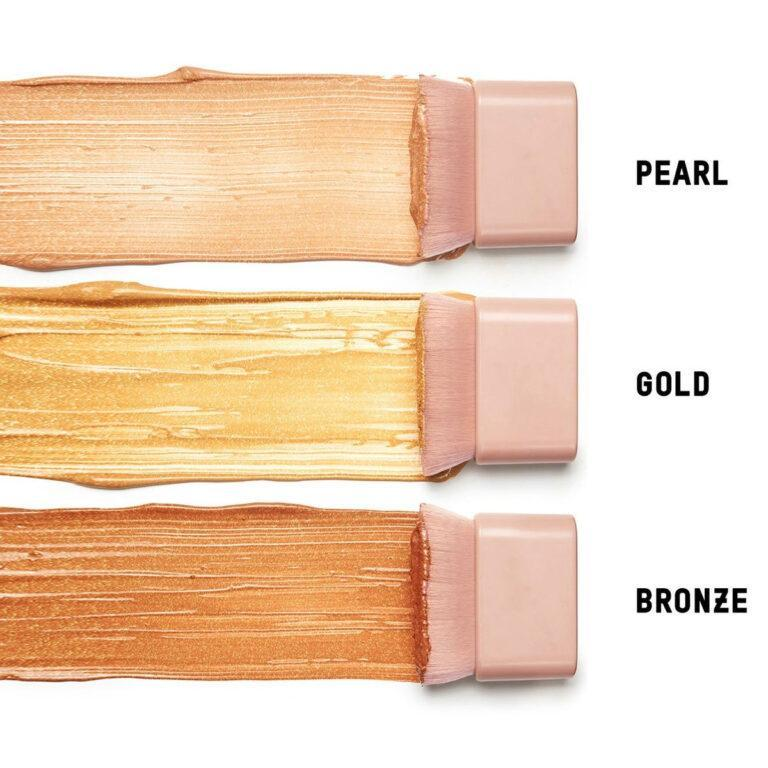 Deluxe Travel Size Skin Perfecting Body Shimmer Brush Swatches