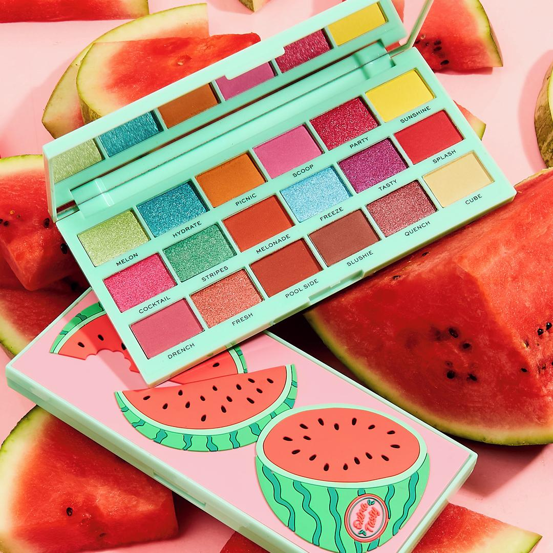 I Heart Revolution Tasty Eyeshadow Palette Watermelon Promo Open & Closed