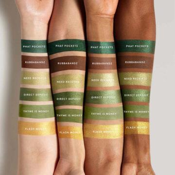 Snap Shadows Mix & Match Eyeshadow Palette 10 Money Arm Swatches