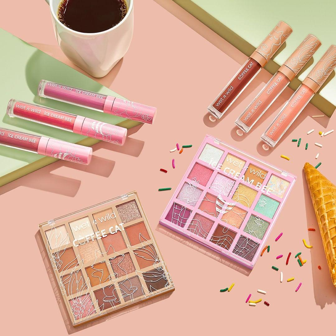 Wet n Wild Beauty Coffee Cat & Ice Cream Bee Collection Full Collection Promo