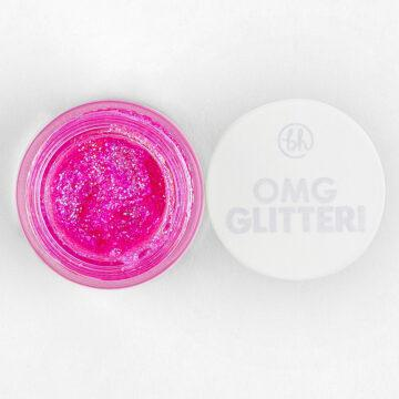 BH Cosmetics OMG Glitter! Face & Body Gel Pink ing of You Open