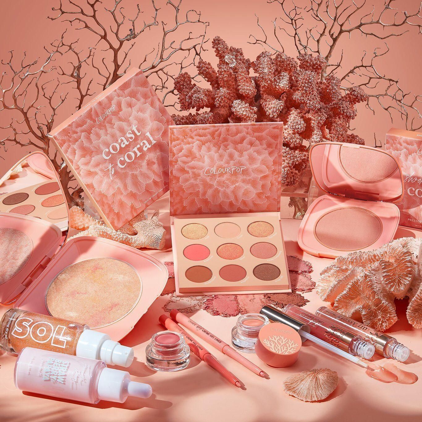 Colourpop Coast To Coral Collection Full Collection Promo