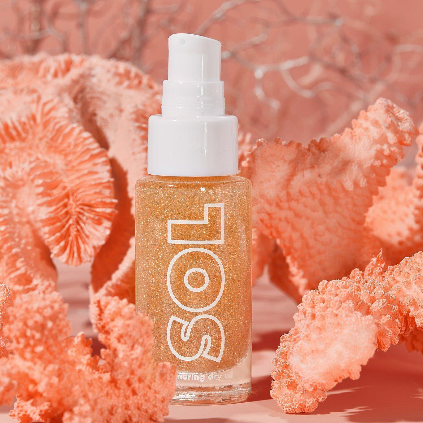 Colourpop Coast To Coral Collection SOL BODY Paloma Sol Shimmering Dry Oil Mini Promo