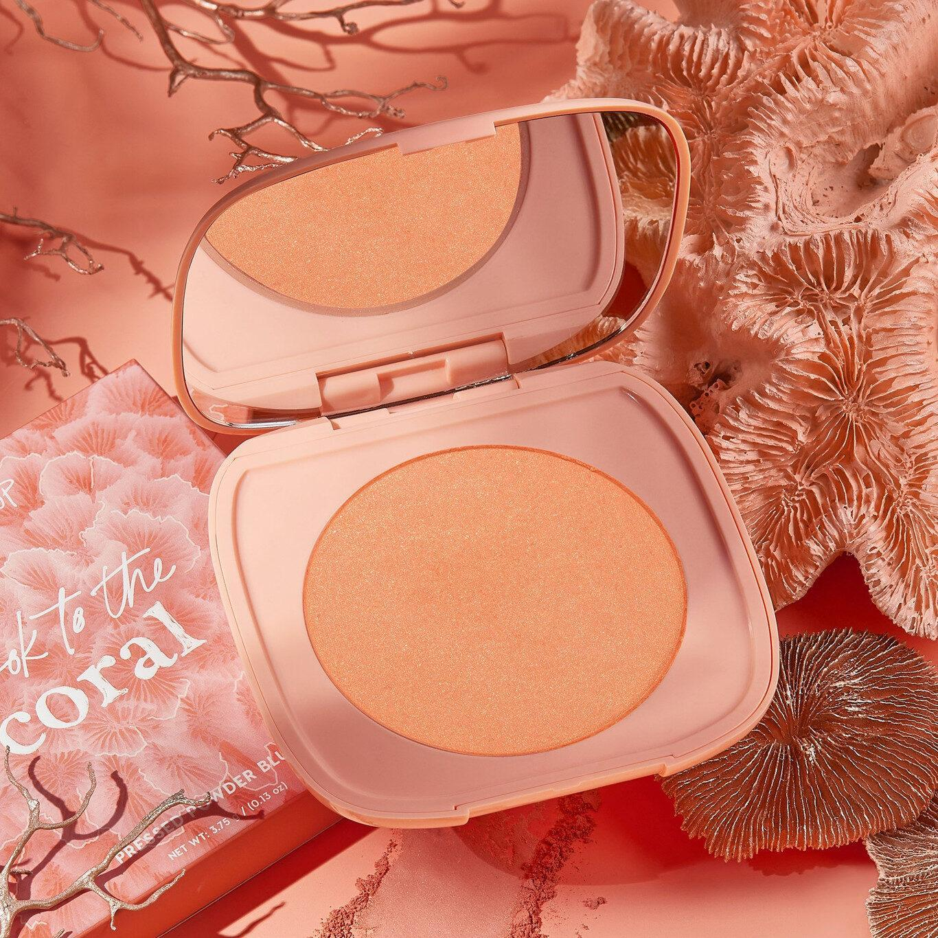 Colourpop Coast To Coral Collection Shook to the Coral Pressed Powder Blush Promo Bueno