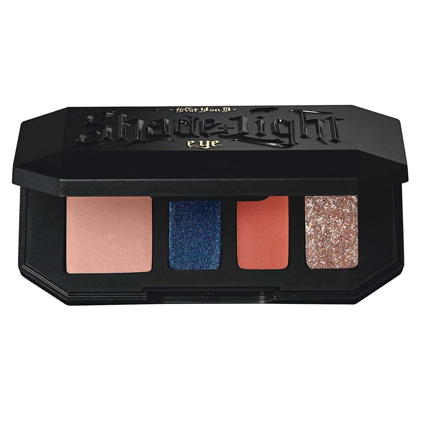 KVD Vegan Beauty Kitten Mini Glamrok Shade + Light Eyeshadow Quad Semi Open Front