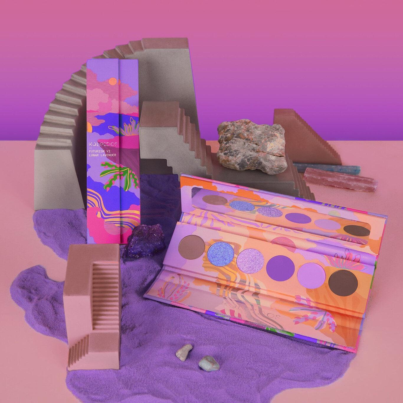 Kaleidos Makeup The Fresh Fantasy Collection Futurism VI Lunar Lavender Eyeshadow Palette Promo