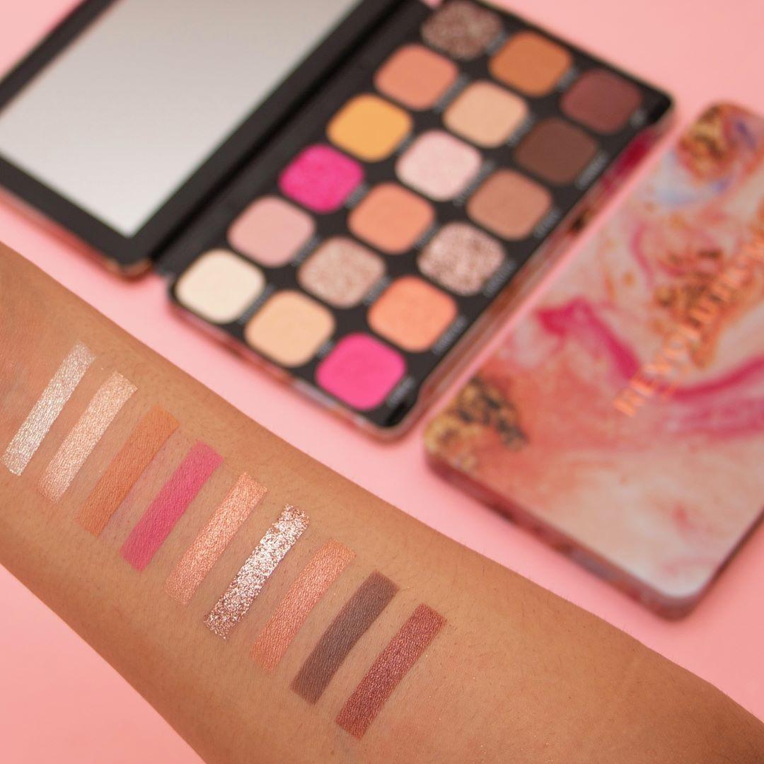 Makeup Revolution Forever Flawless Affinity Eyeshadow Palette Arm Swatches Light 2