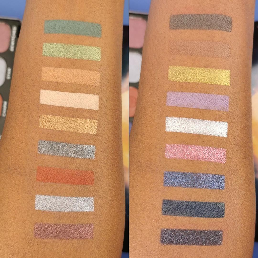Makeup Revolution Forever Flawless Enchanted Eyeshadow Palette Arm Swatches