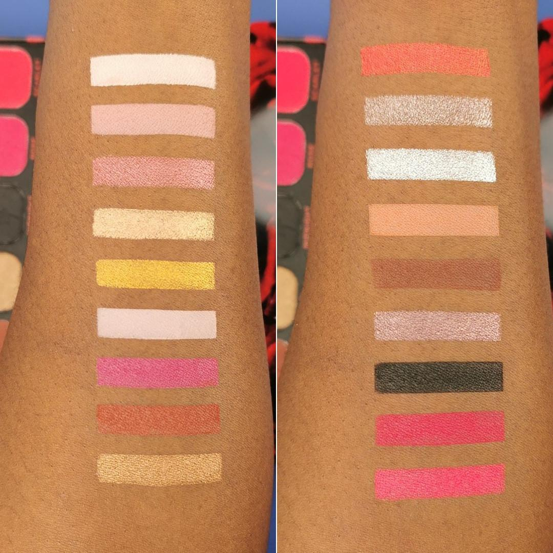 Makeup Revolution Forever Flawless Midnight Rose Eyeshadow Palette Arm Swatches