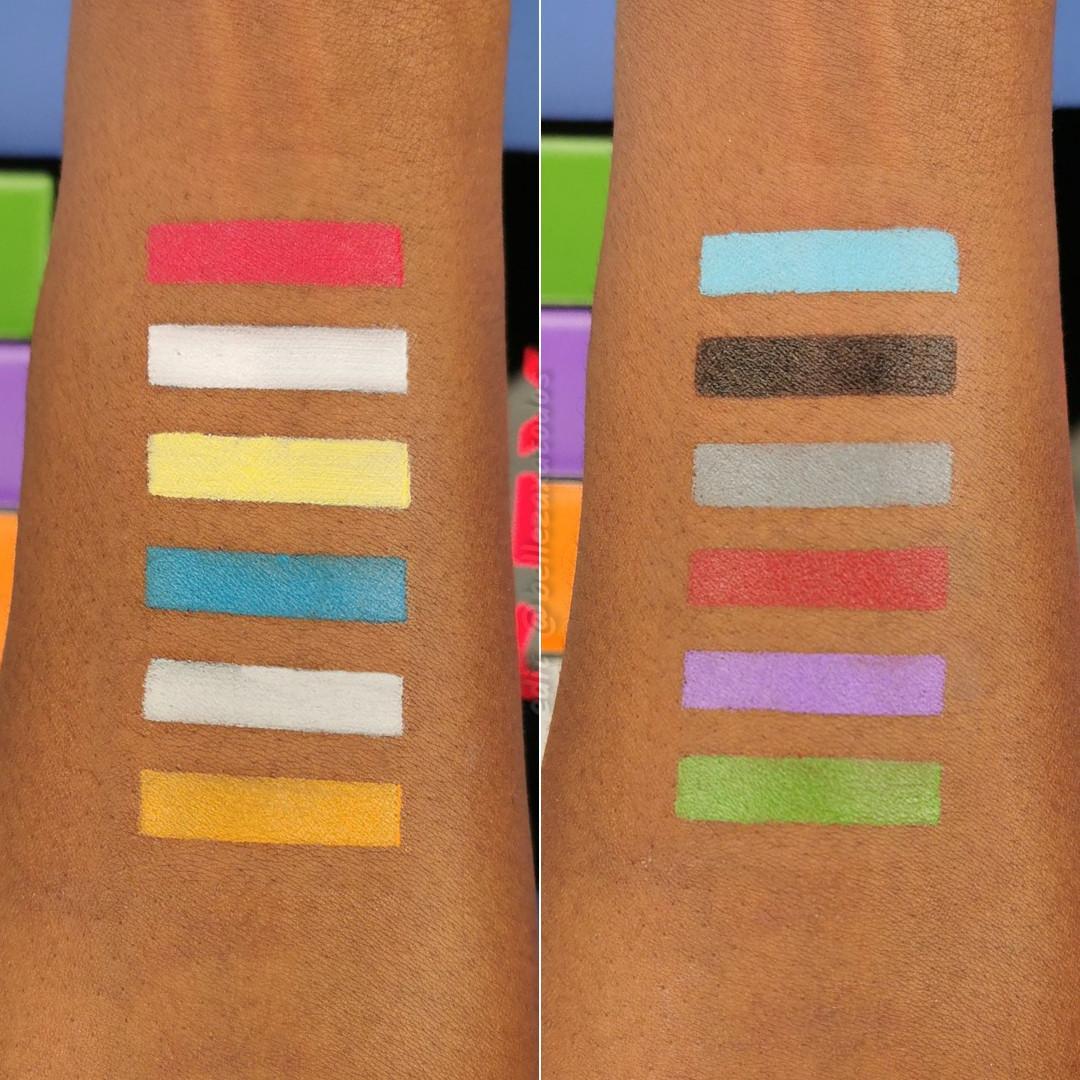 Makeup Revolution Halloween SFX Ultimate Face Paint Face Palette Arm Swatches