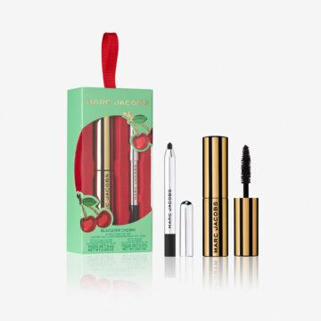 Marc Jacobs Very Merry Cherry Collection Blacquer Cherry 2 Piece Mini Eye Set Open