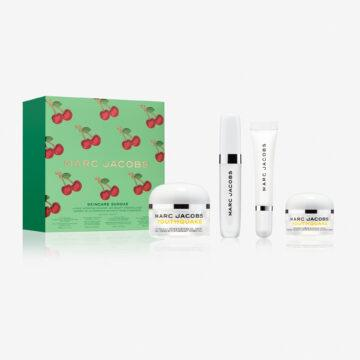 Marc Jacobs Very Merry Cherry Collection Skincare Sundae 4 Piece Hydrating Skincare And Beauty Essentials Set