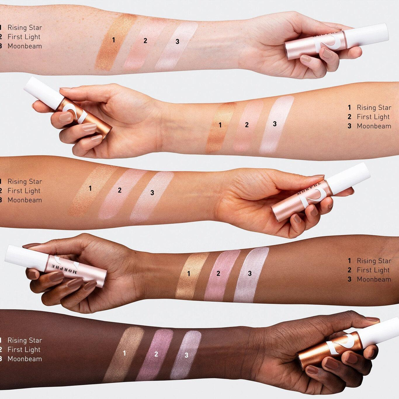 Morphe 2 Gleamcatcher Illuminator Arm Swatches