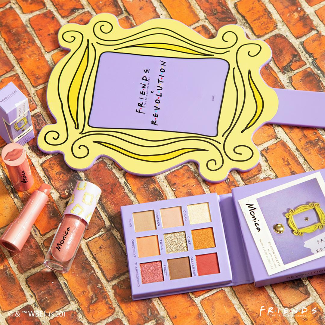 Revolution X Friends Monica Palette, Lipstick & Gloss with Mirror