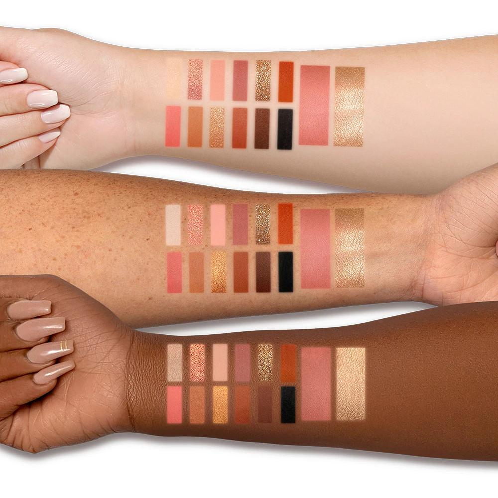 Too Faced Holiday 2020 Collection Enchanted Beauty Foxy Neutrals Makeup Set Arm Swatches
