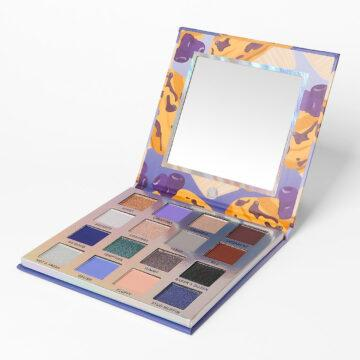 Weekend Vibes Blueberry Muffin Eyeshadow Palette Open Angled