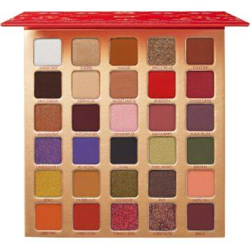 BH Cosmetics Holiday Collection 2020 Naughty 30 Color Shadow Palette Open