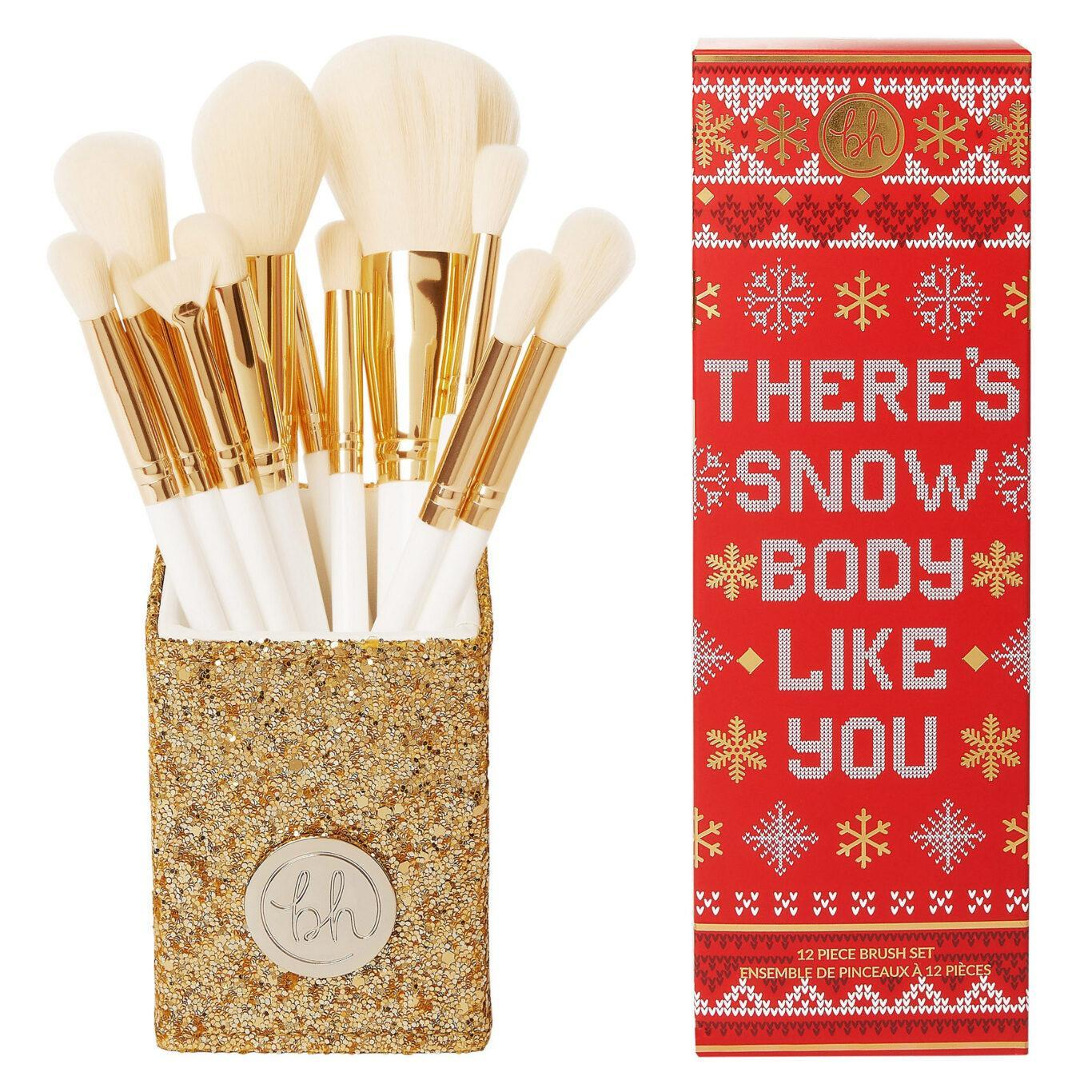 BH Cosmetics Holiday Collection 2020 There's Snowbody Like You 12 Piece Brush Set Brushes And Box