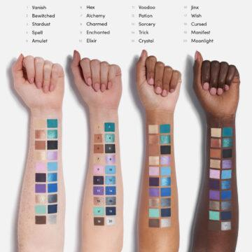 Beauty Bay Book Of Magic Palette Arm Swatches