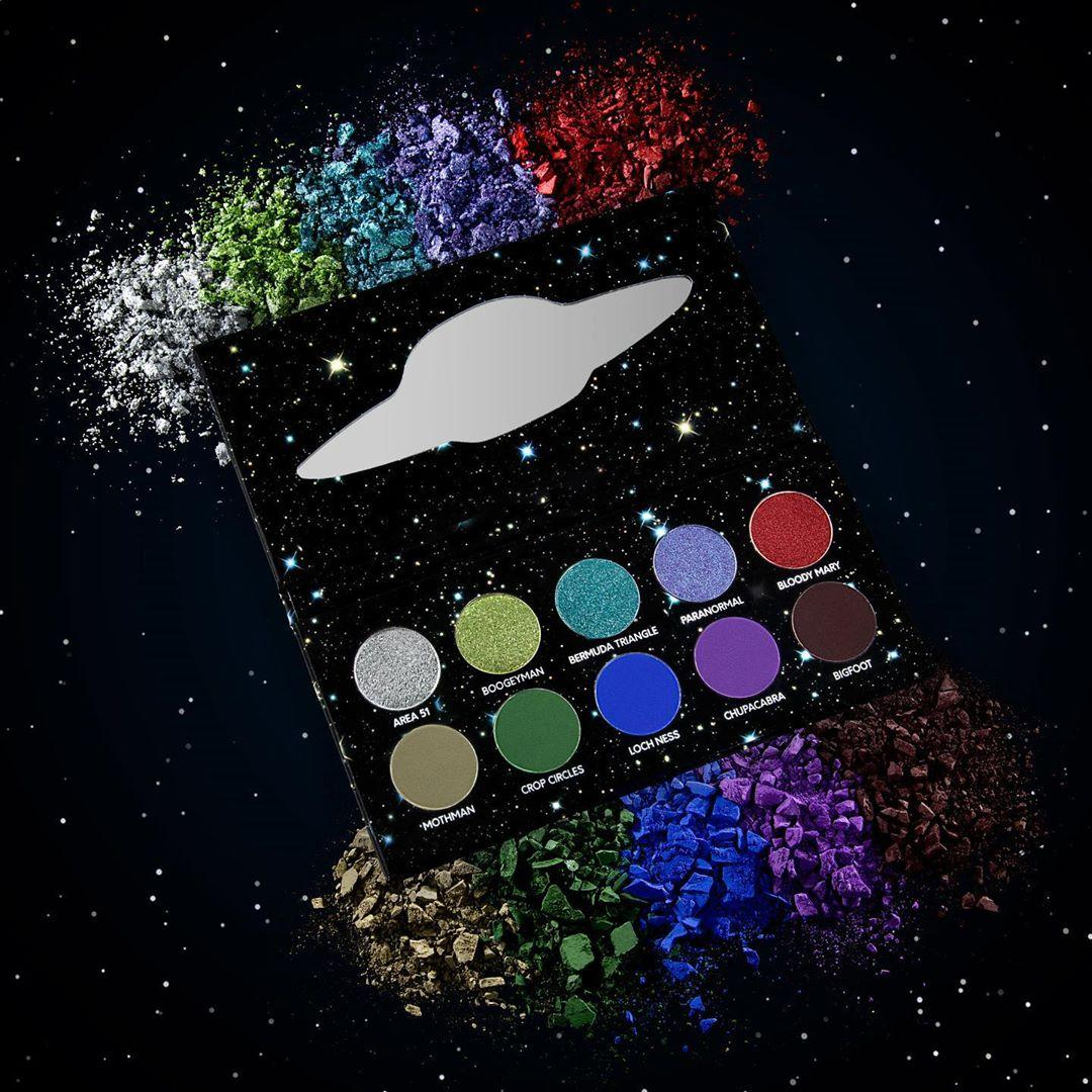Black Moon Cosmetics Urban Myth Eyeshadow Palette Open With Crash Swatches