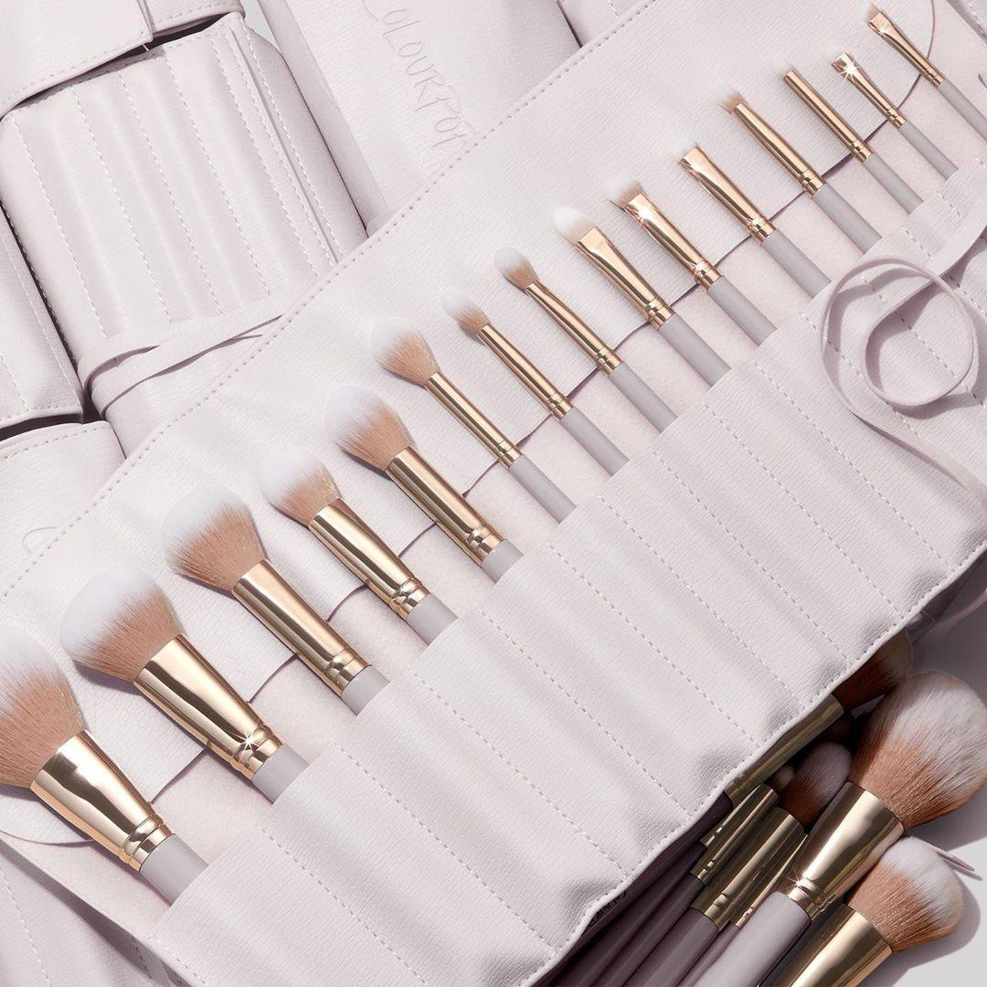 Colourpop Cosmetics Stone Cold Fox Palette Matching Ultimate Brush Roll Promo