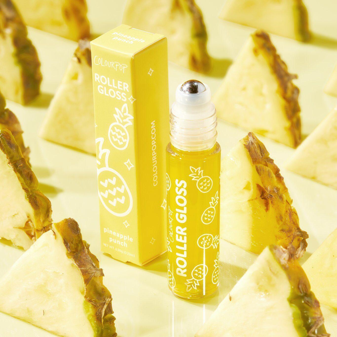Colourpop Roll With It Roller Gloss Kit In Pineapple Promo
