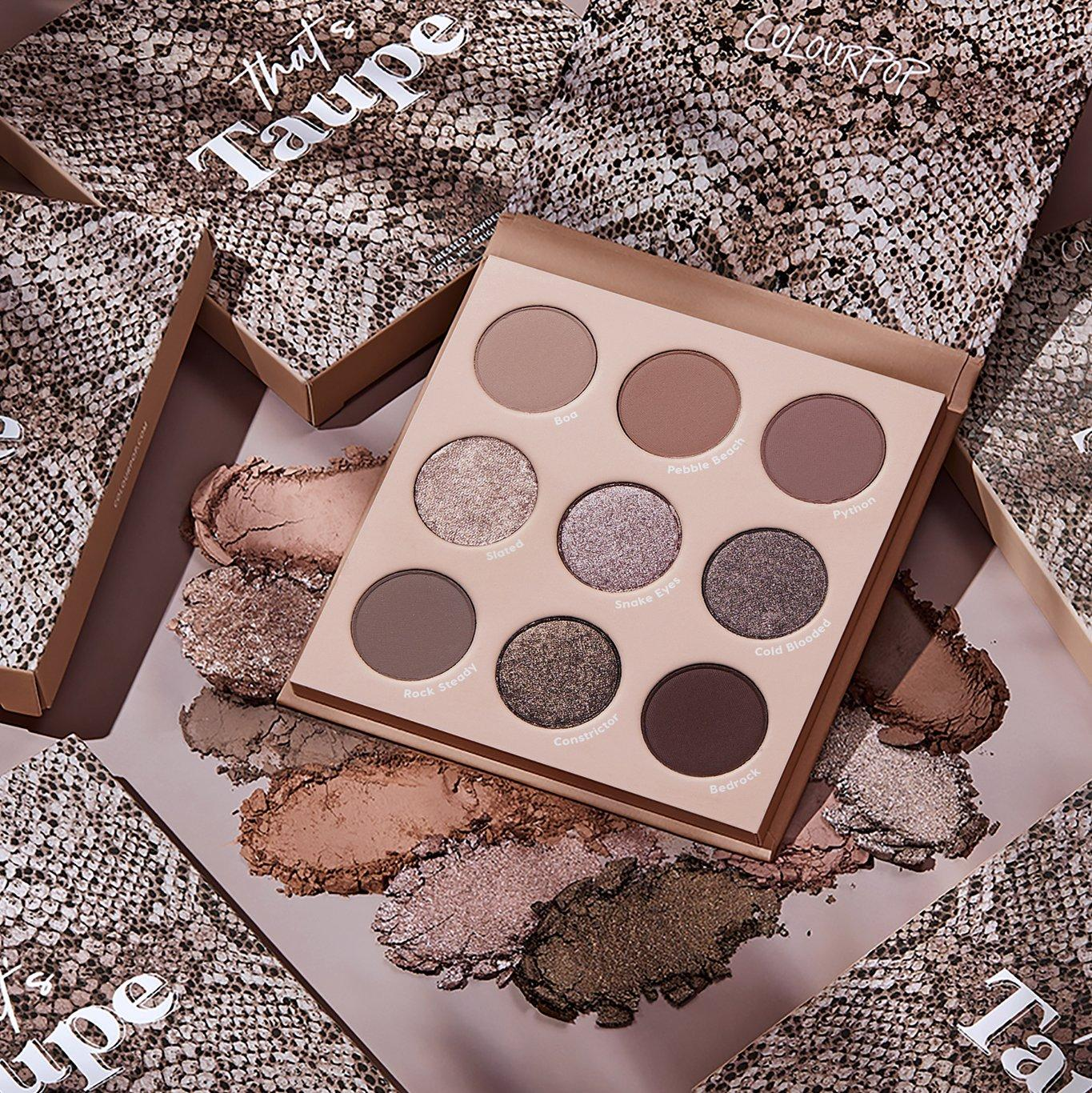 Colourpop That's Taupe Collection That's Taupe Eyshadow Palette Promo
