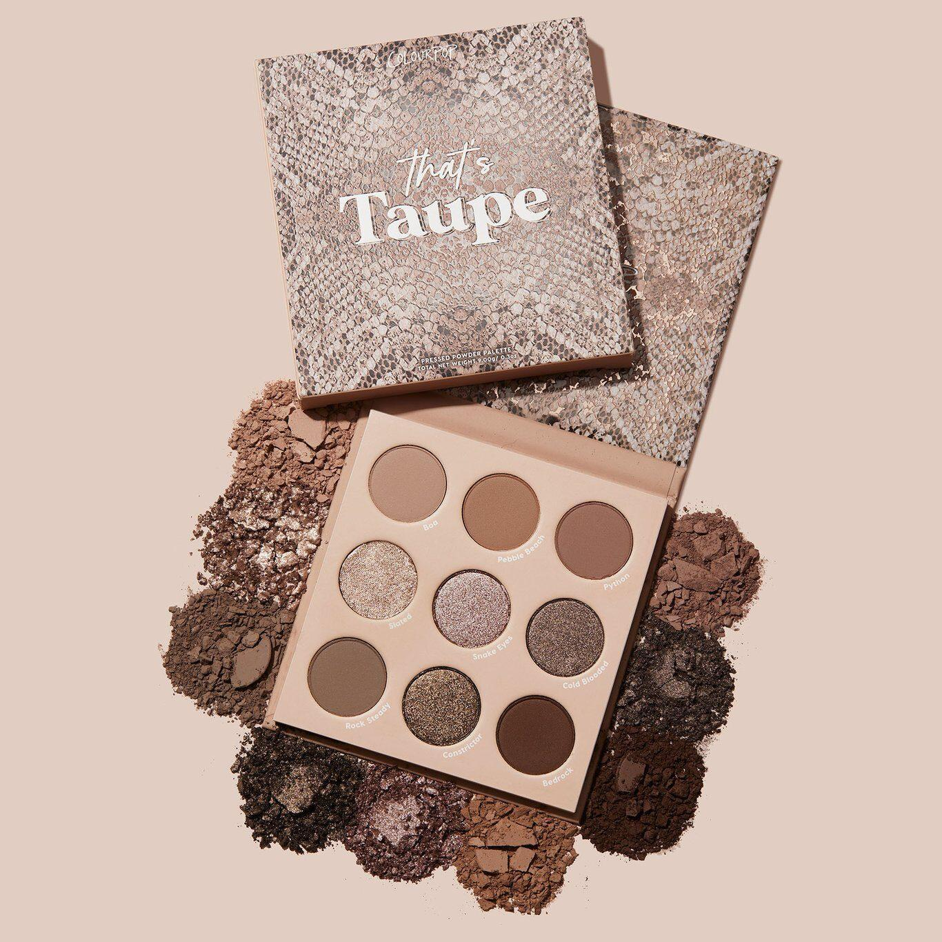 Colourpop That's Taupe Collection That's Taupe Eyshadow Palette With Crashes