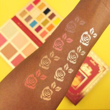 I Heart Revolution Disney Collection Disney Storybook Palette Belle Arm Swatch 1