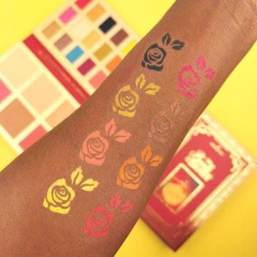 I Heart Revolution Disney Collection Disney Storybook Palette Belle Arm Swatch 2