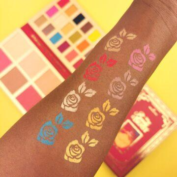 I Heart Revolution Disney Collection Disney Storybook Palette Belle Arm Swatch 3