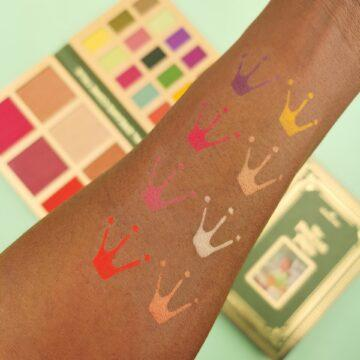 I Heart Revolution Disney Collection Disney Storybook Palette Tiana Arm Swatch 2
