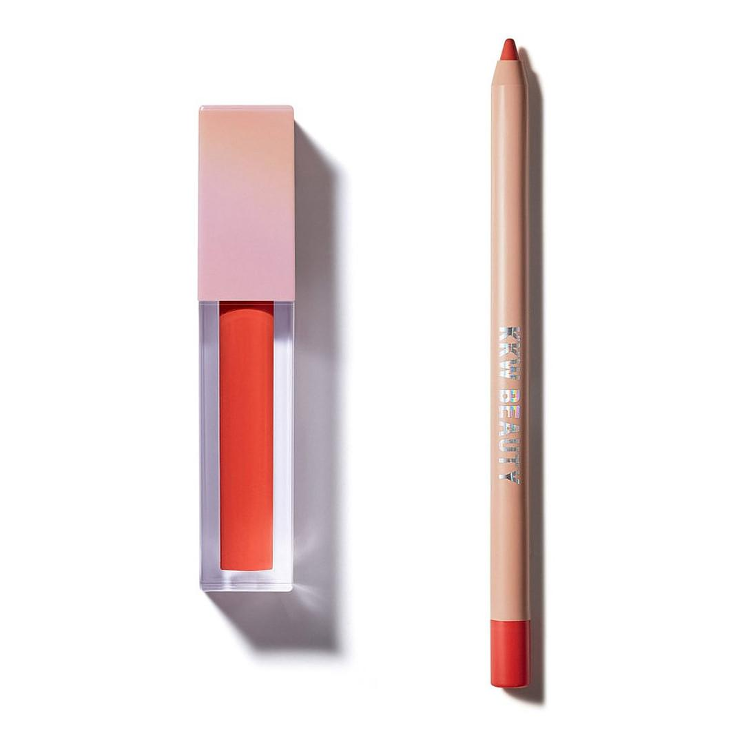 KKW Beauty Opalescent Collection Opalescent Lip Duo In Surprise Party