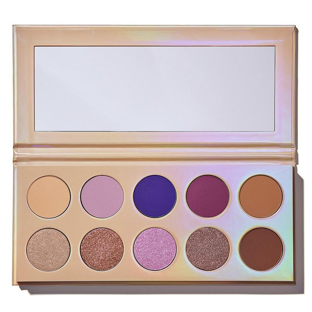 KKW Beauty Opalescent Collection Opalescent Pressed Powder Palette Open