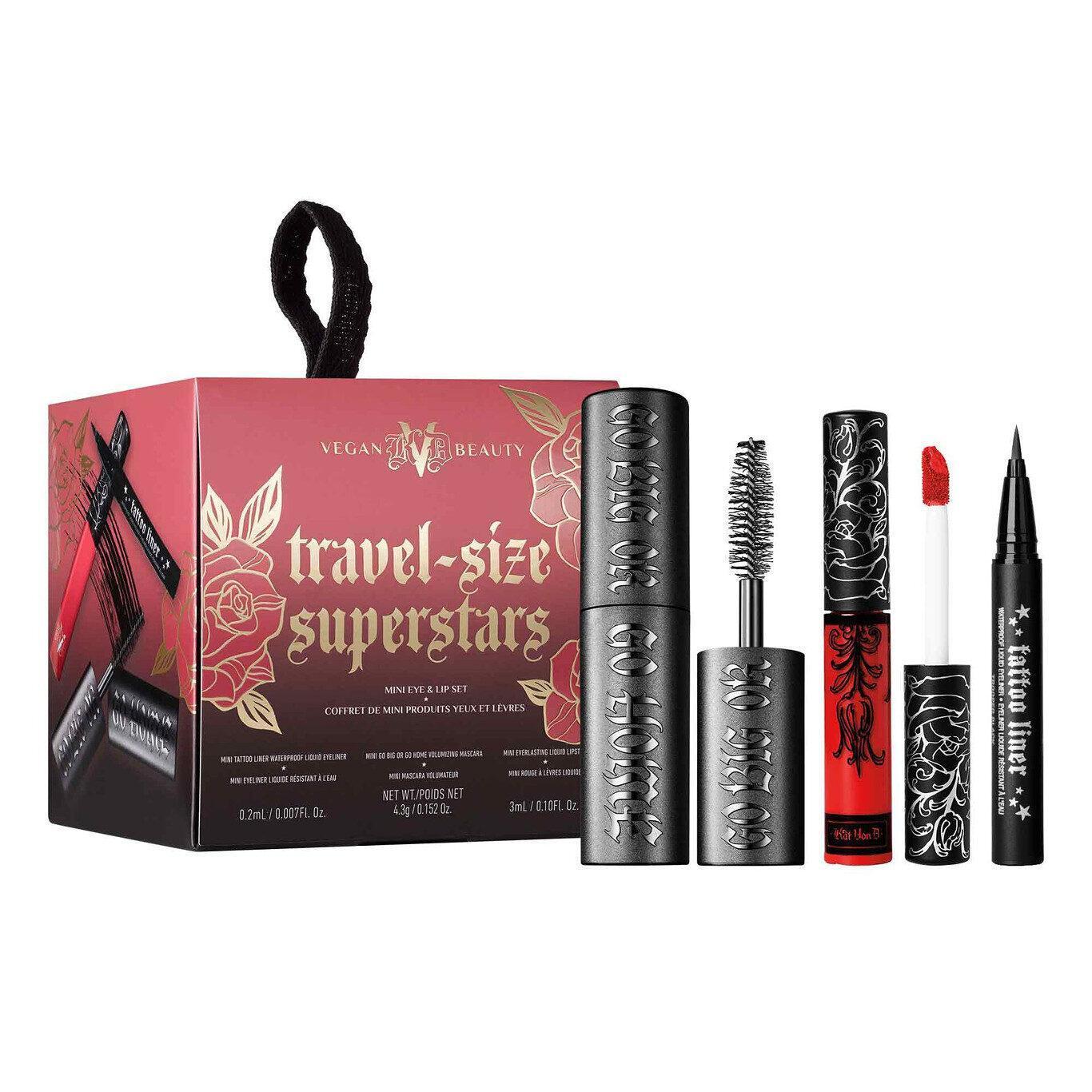 KVD Vegan Beauty Holiday Collection 2020 Travel Size Superstars Mini Eye & Lip Set