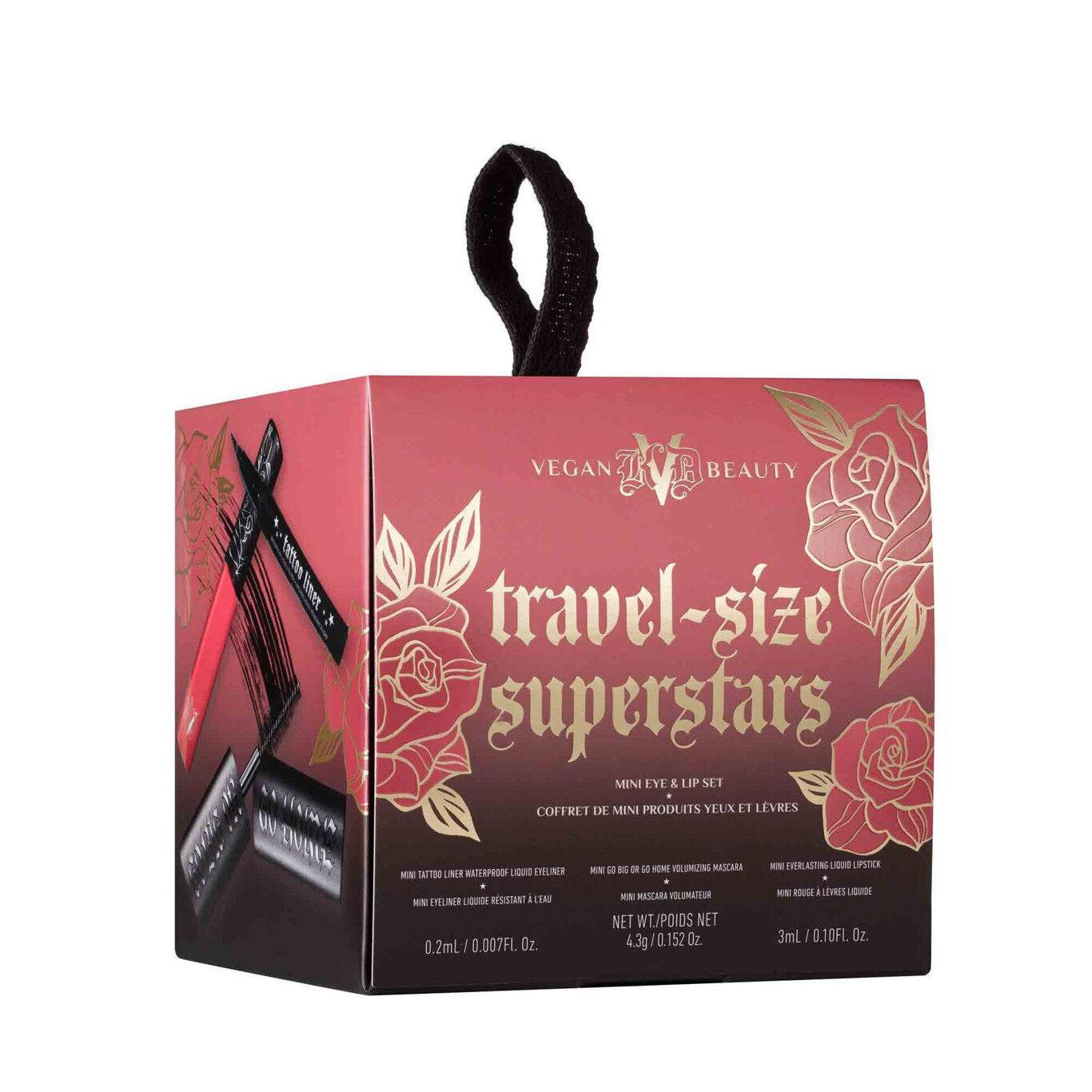 KVD Vegan Beauty Holiday Collection 2020 Travel Size Superstars Mini Eye & Lip Set BOX