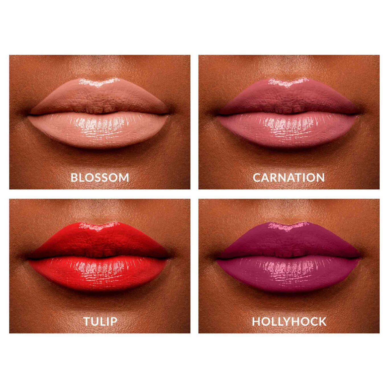 KVD Vegan Beauty Holiday Collection 2020 XO Vinyl Obsession Mini Lip Set Lip Swatch Deep
