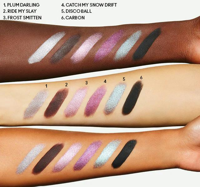 MAC Cosmetics Christmas 2020 Frosted Fireworks Collection Rocket To Fame Eye Shadow x 12 Palette Swatches 2